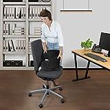 Bonmedico® Orthopädisches Sitzkissen mit innovativer Gel-Beschichtung, wirkt schmerzreduzierend, sorgt für gerade Körperhaltung und Steißbein-Entlastung, geeignet für Auto, Büro- & Rollstuhl sowie Reisen, in Schwarz oder Blau (Schwarz) - 3