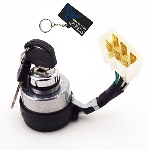 STONEDER Interrupteur à clé marche/arrêt 6 fils pour générateur d'essence DuroMax XP4400E XP4400EH XP8500E XP1000E 188F 190F 5KW 6KW 7KW