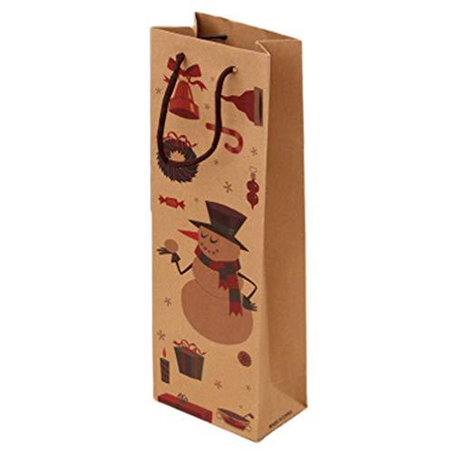 Bolsa Bolsa de Papel Kraft de Navidad Bolsa de Vino Tinto Bolsa de Botella de Vino Estilo colorido2
