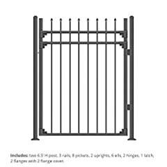 ✔ SAVE YOUR MONEY WITH EASY INSTALLATION Patented SecureSnap assembly design enables you to assemble a gate in the matter of minutes. ✔ OUR QUALITY Built from strong wrought iron, pre-galvanized inside and out, double-powder coated, black. ✔ COMPACT ...