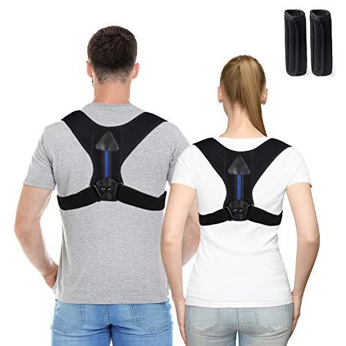 Haltungskorrektur Geradehalter,verstellbare abziehbaren Schulter Professionell atmungsaktiv Corrector Schultergurt zur Haltungskorrektur für Damen Herren Rückentrainer Haltungstrainer (L)
