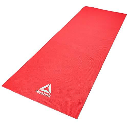 Reebok Tappetino da Yoga, 4 mm, Rosso