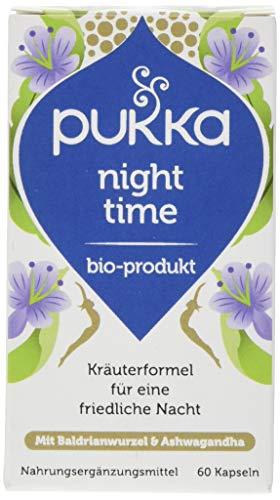 Pukka Bio-Nahrungsergänzungsmittel Night Time, 60 Kapseln