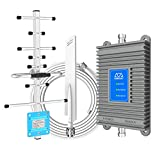 Triband Cell Phone Signal Booster for Home Supports 700MHz/850MHz/1900MHz Band 13/2/5/25 2G GSM 3G 4G LTE Data and Voice for All U.S. Carriers Verizon AT&T T-Mobile Coverage up to 3,000 sq. ft.