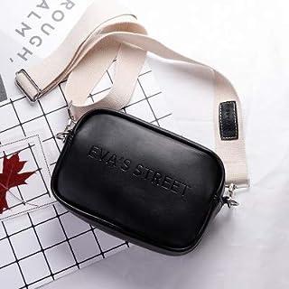 Weichuang Bolso de mano de cuero para mujer, bolso de mensajero de hombro para mujer con solapa de letra simple y moda par...