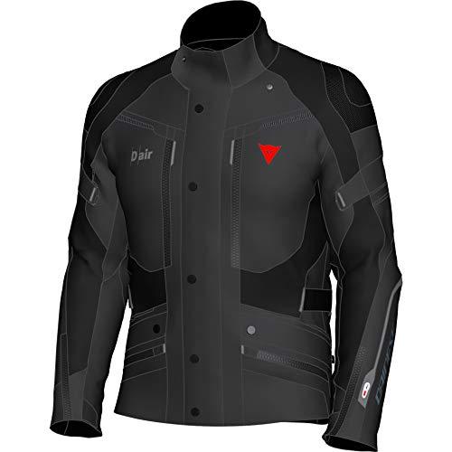Dainese Motorradjacke mit Protektoren Motorrad Jacke Carve Master 2 D-Air GTX Textiljacke schwarz 54, Herren, Tourer, Ganzjährig