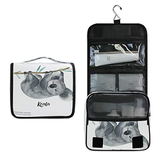 Neceser colgante con diseño de oso de koala australiano, bolsa de cosméticos para mujeres y niñas, multifunción, bolsa de maquillaje, bolsa de almacenamiento