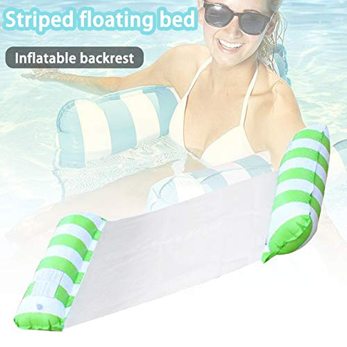 Gebuter Inflatable Water Hammock Floating Bed Lounge Chair Drifter Swimming Pool Beach Float for Beach Swimming Pool