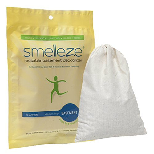 SMELLEZE Reusable Basement Odor Removal Deodorizer Pouch: Rids Funky Smell Without Fragrance in 150 Sq. Ft.