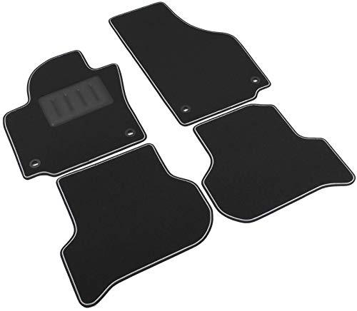Alfombrilla para coche sprint04000, negra, antideslizante, con borde reforzado, bicolor, soporte para tacones hecho de goma, para modelos Altea 2004-2009, Toledo III 2004-2009, Golf Plus 2005-2009.