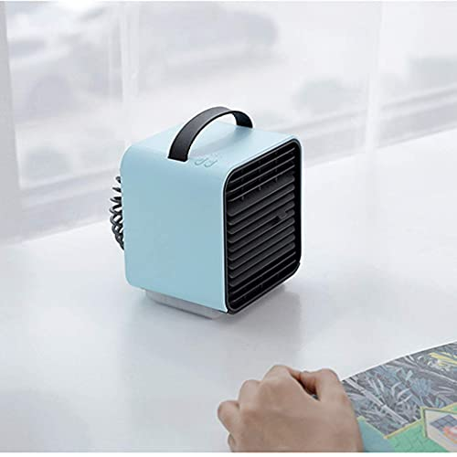 XPfj Air Cooler Se Puede Agregar Ventilador de Aire Acondicionado de Iones Negativos, refrigerador de Aire de Escritorio, Mini Ventilador, Agua Helada, 120x127x132cm Rosa (Color : Blue)