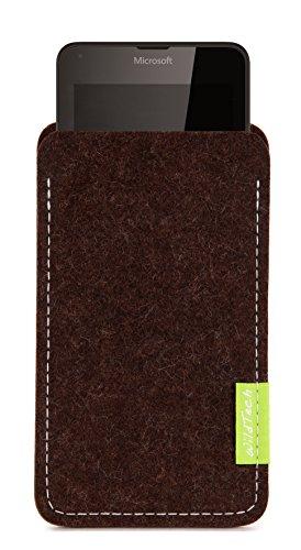 WildTech Sleeve für Microsoft Lumia 640 XL Dual SIM Hülle Tasche - 17 Farben (made in Germany) - Trüffelbraun