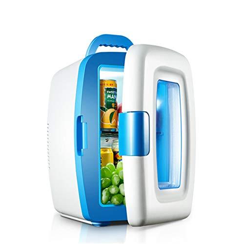 XYBB Mini-koelkast, voor de zomer, mini-koelkast voor de auto of de koelkast, voor het huishouden, kleine koelkast voor studenten met draagbare auto 28 * 22 * 34 cm Blauw