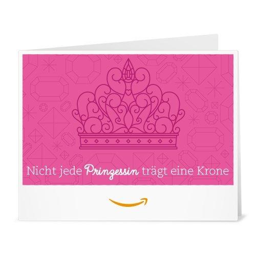 Amazon.de Gutschein zum Drucken (Nicht jede Prinzessin trägt eine Krone)
