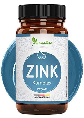 Pure Nature ZINK KOMPLEX rein aus BIO Buchweizen – Pflanzlich, hochdosiert & vegan – Deutscher Premium Rohstoff ohne Zusatzstoffe – 90 Kapseln
