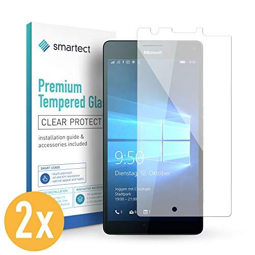 smartect Panzerglas kompatibel mit Microsoft Lumia 950 XL [2 Stück] - Displayschutz mit 9H Härte - Blasenfreie Schutzfolie - Anti Fingerprint Panzerglasfolie
