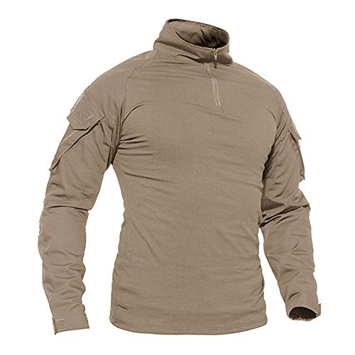 Hombres Verano Camuflaje Camisetas Ejército Combate Táctico Camiseta Militar Hombres Manga Larga Camiseta Caza