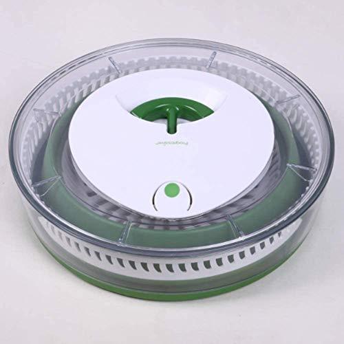 JUANstore Centrifuga Insalata Spinner per Insalata Pieghevole, metà delle Dimensioni Senza Compromettere Le Caratteristiche,Verde