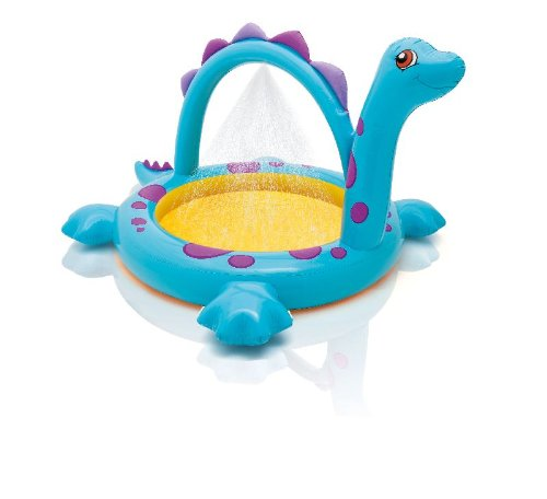 Intex Planschbecken Dino mit Wassersprüher Dusche 229x165x117cm