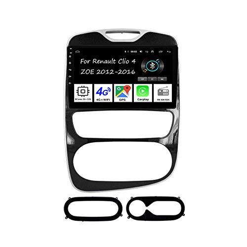 Autoradio Android 9 Pollici Car Audio GPS Navigation Stereo Auto Con Schermo Per Renault Clio 4 ZOE 2012-2016 8 Cores 2G+32G Ricambi auto Collega e usa Support SWC Dab+ Carplay USB 12V DAB