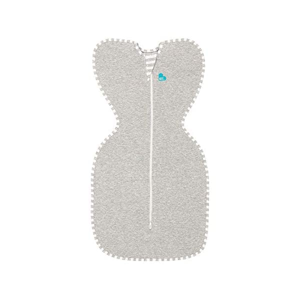 Love To Dream Swaddle UP, Gray, Small, 8-13 lbs., Dramatically Better Sleep, Allow Baby to Sleep in Their Preferred arms up Position for self-Soothing, snug fit Calms Startle Reflex