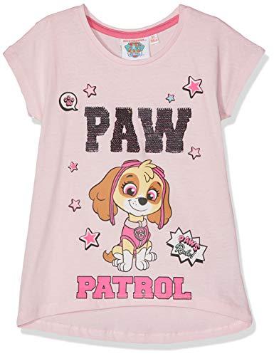 Pat patrouille Mädchen T-Shirt 5808, Rose Clair, 8 Jahre