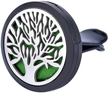 HOUSWEETY Car Air Freshener Aromatherapy Essential Oil Diffuser Tree of Life Stainless Steel product image
