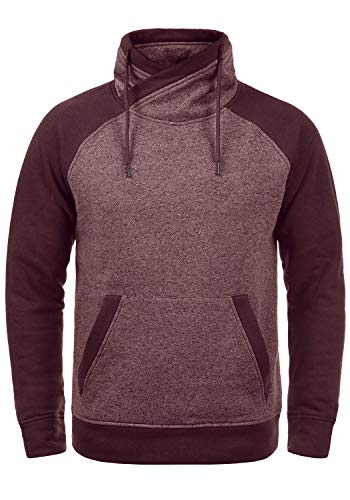 JACK & JONES Core Ridge Herren Sweatpullover Pullover Mit Cross-Over Kragen Stehkragen, Größe:L, Farbe:Port Royale