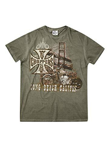 West Coast Choppers WCC T-Shirt Bridge Green-L