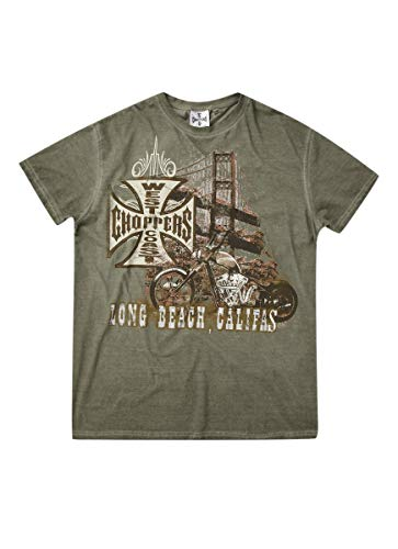 West Coast Choppers WCC T-Shirt Bridge Green-M