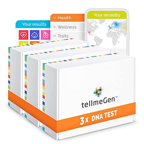 Family Pack tellmeGen: 3 test DNA Origini + Predisposizione alle Malattie + Malattie Monogeniche + Tratti Personali + Benessere + Compatibilità Farmacologica - Test del DNA Familiare | +410 Rapporti