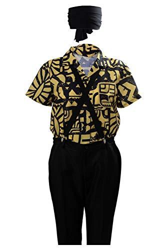 Disfraz De Serie De Television para Mujer Eleven Cosplay Camisa Camisa De Manga Corta Negra Amarilla De Algodon Disfraces De Halloween, XS