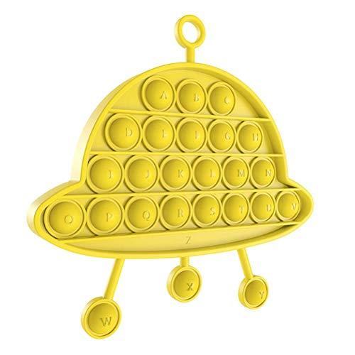 Empuje burbuja sensorial juguete juego de puzzle con las letras del alfabeto de silicona exprimiendo niños de juguete para la ansiedad autismo colgantes decoración de la pared sensorial juguete