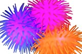 Curious Minds Busy Bags Set of 3 Light Up 5' Puffer Balls - Sensory Fidget and Stress Balls - OT Autism SPD (Random Colors)