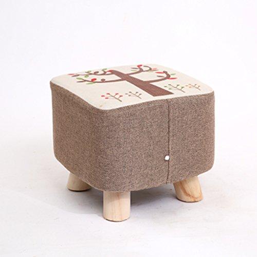 Salon Tabouret de canapé en bois massif Tabouret de famille tabouret 28 * 28 * 25cm (Color : I)