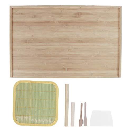 Tabla de cortar, alfombra de amasar de bambú, lisa para el hogar