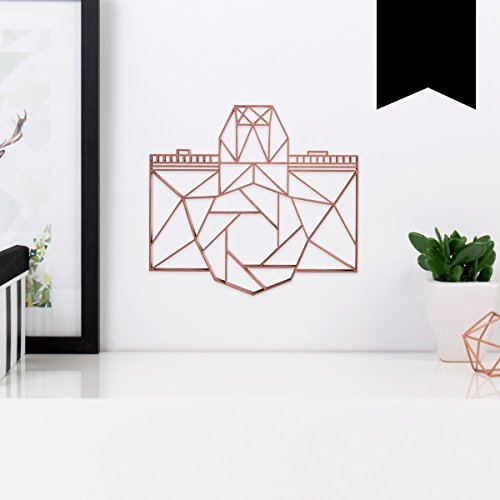 KLEINLAUT 3D-Origamis aus Holz - Wähle EIN Motiv & Farbe - Kamera - 20 x 18,2 cm (M) - Schwarz