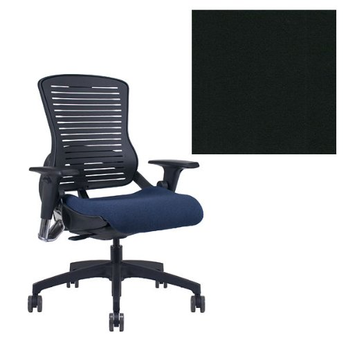 Office Master OM5 Black Frame Ergonomic Modern Stylish Office Chair with Adjustable Arms - Grade 1...