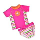 Mädchen-Badebekleidung Uv-Schutz-Badebekleidung 2-Teiliges Set Baby Cartoon Tauchen Surfanzug