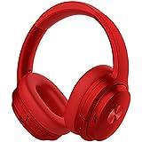 【2019年 APT-X&Bluetooth 5.0進化版】COWIN SE7 ワイヤレス ノイズキャンセリング Bluetooth ヘッドホン aptX 密閉型 高音質 内蔵マイク 30時間再生 ハンズフリー通話可能 iphone PC Mac などに対応 ヘッドフォン (レッド)