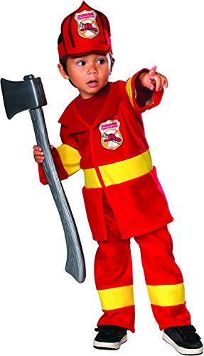 Jr Firefighter Costume: Toddler's Size 2T-4T