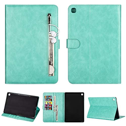 MOYOFEE JYMD AYYD For Samsung Galaxy Tab S5e T720 / T725 Tablet Fashion Calf Texture Zipper Horizontal Flip Leather Case with Stand & Card Slots & Wallet & Wake-up/Sleep Function (Color : Green)