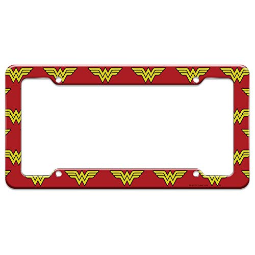 Graphics and More Wonder Woman Classic Logo License Plate Clear Frame
