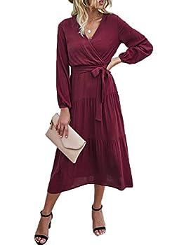 Best wrap dress long sleeve Reviews