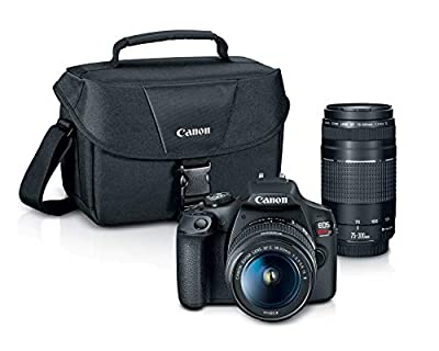 EOS Rebel T7 18-55mm f/3.5-5.6 is II Kit and EF 75-300mm Double Zoom KIT by Canon