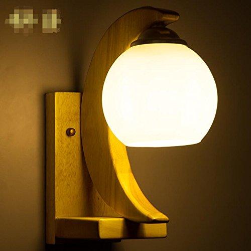 De style japonais moderne lumi¨¨res lampe de chevet lampe de mur du salon de chambre Restaurant feux de bois chinois