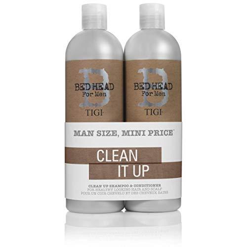 TIGI Bed Head For Men Tween Duo Clean Up It Shampoo, 2 x 750 ml