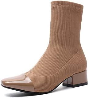 BalaMasa Womens Huarache Warm Lining High-Top Leather Boots ABM13622