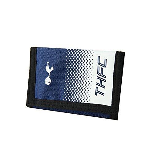 Tottenham Hotspur FC Official - Cartera con escudo, colores en degradado y cierre adhesivo (Talla Única) (Azul marino Blanco)