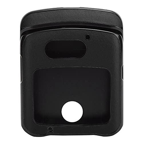 Hülle mit Clip für Motorola RAZR 5G Flip Phone, Stoßfeste Handy Lederhülle für Motorola Razr 5G Lederhülle(schwarz)